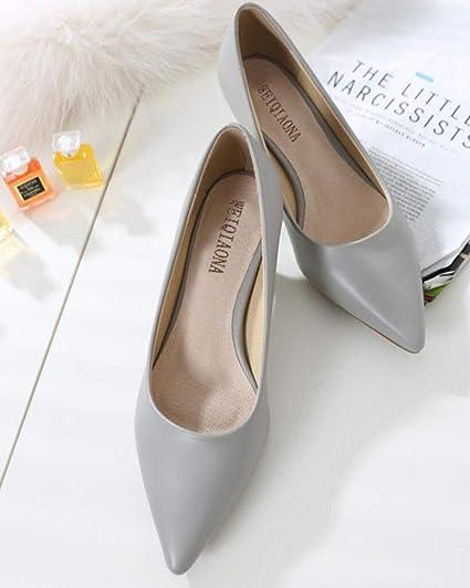 56e9fe65b238a Amazon.com: Woman Shoes Genuine Leather Inside Low Heels Women Pumps ...
