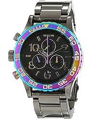 Nixon The 42-20 Black Dial SS Chronograph Quartz Ladies Watch A037-1698