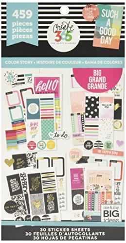 - me & my BIG ideas PPSV-13 Create 365 The Happy Planner Sticker Value Pack Planner - BIG Color Story - 459 Stickers