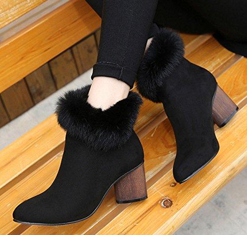 Femme Low Noir Neige De Bottines Aisun Chaussures Boots Chaud dqZwwOoB