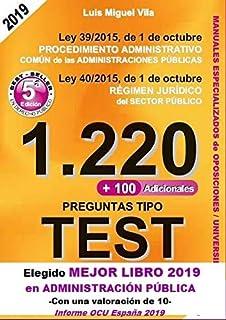 1220 Preguntas Tipo Test. Ley 39/2015, de 1 de octubre, del