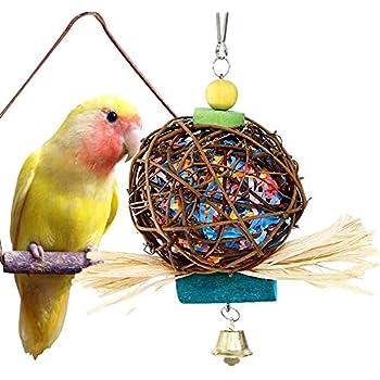 Pet Bird Parrot Toys Parakeet Budgie Cockatiel Cage Hammock Swing Toy Hanging Chew Toys For Birds Crazy Price Home & Garden