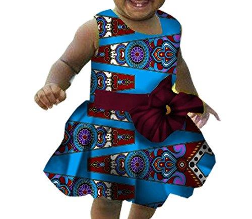 Vita Il Stampa Vestito Africano Increspato Tre A Comfort Carino Coolred Ragazze Di Dashiki Maxi Partito x7qgv0X