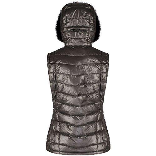 Endow Womens Metallic Ski Water Bodywarmer Gilet Silver Nylon Repellent Dare ladies 2b 7twAq66T