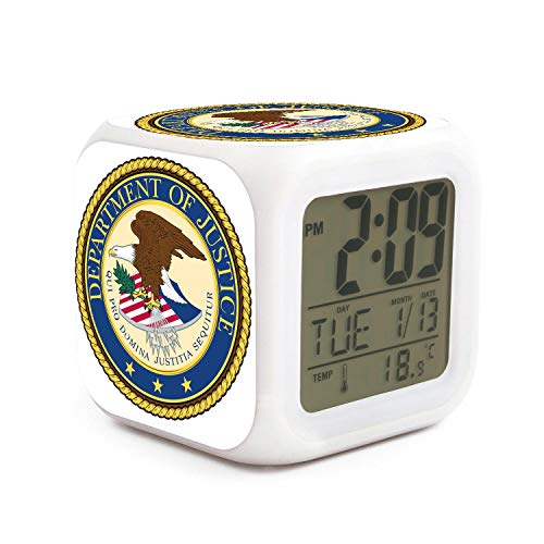 HZBBSB The Department of Justice Electronic Alarm Clock Gifts for Sweetheart Mini Bedroom