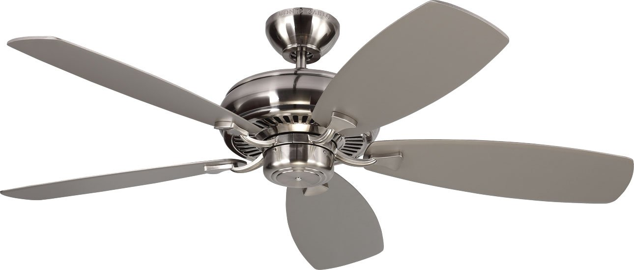 Monte Carlo 5LCM52BS Light Cast Max, 52'' Ceiling Fan, Brushed Steel
