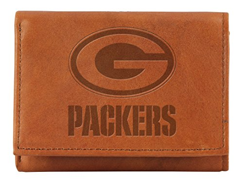 Tin Packers Green Bay Nfl (Rico NFL Green Bay Packers Embossed Genuine Leather Trifold Wallet)