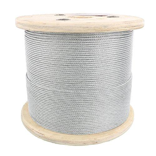 "1/8"" X 1000', 7x19, Galvanized Cable Reel"