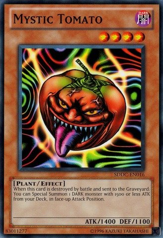 Yu-Gi-Oh! - Mystic Tomato (SDDC-EN016) - Structure Deck: Dragons Collide - Unlimited Edition - Common