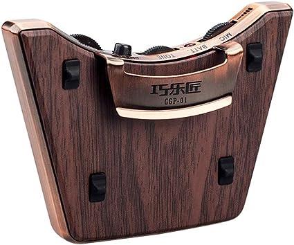 Doppio pickup per microfono,Installazione facile,per chitarre folk classiche Muslady Pickup buca per chitarra acustica Piezo