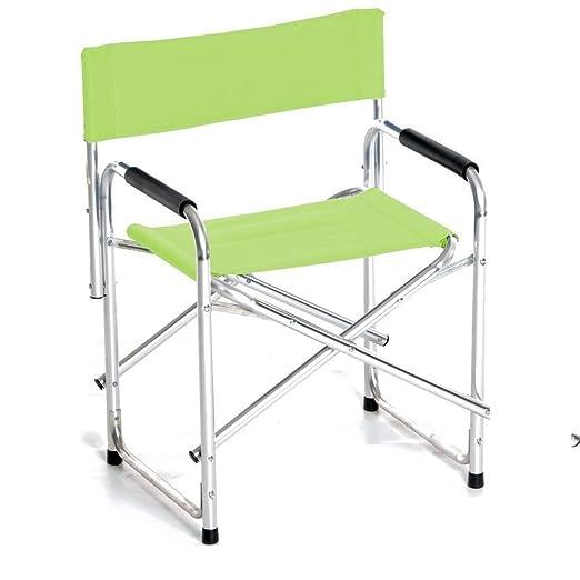 Sedia Regista Alluminio Offerte.Sedia Regista In Alluminio E Tessuto Poliestere Verde Mela Nuova
