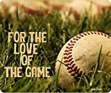 For The Love Of The Game Baseball Thick Mousepad by Atomic Market