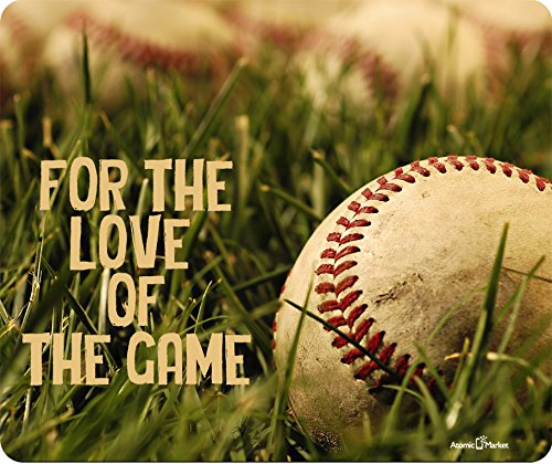 (For The Love Of The Game Baseball Thick Mousepad by Atomic)