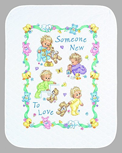 (Dimensions Baby Hugs Kit Stamped Quilt Someone New Baby)