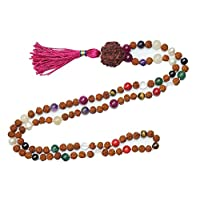 Chakra Healing Mala Beads Necklace Japamala Buddhist Necklace Knotted 108