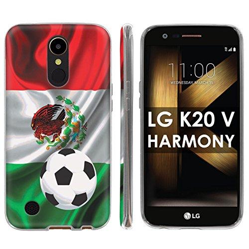 "LG [K20 V/ K20 plus] LG Harmony Soft Mold [Mobiflare] [Clear] Thin Gel Protect Cover – [Mexico Flag Soccer Ball] for LG [K20 V/ K20 plus/ Harmony] [5.3 "" Screen]"