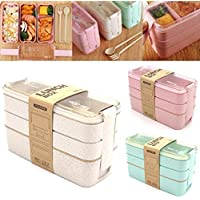 Zhuygba 3 Layered Microwave Oven Lunch Box