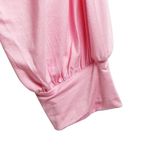 Sidiou Group Nuevo Harem Pantalón por mujeres, polainas por danza, Yoga, ganduleado - muy suave rosado