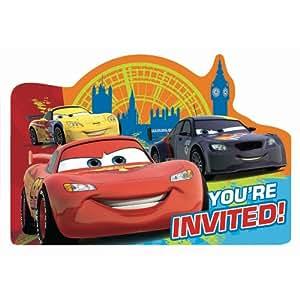 Cars 2 Invitations w/ Envelopes (8ct)