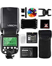 GODOX V860II-N TTL Flash 1/8000s High-Speed Sync 2.4G GN60 Camera Flash Speedlight with Rechargeable Battery 1.5S Recycle Time 650 Full Power Flashes for Nikon D3400 D3200 D5300 D5600 D750 (V860II-N)