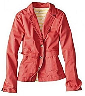 Chaqueta de Verano Mujer de Eddie Bauer - algodón, coral, 100% algodón 100% algodón. \n\t\t\t\t, mujer, XS: Amazon.es: Ropa y accesorios