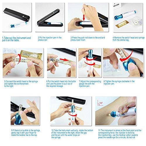 Professional Noninvasive Nebulizer Hyaluronic Acid Syringe, Needle Free Pen Hyaluronic Acid Micro Injector Skin Care Rejuvenation Whitening Moisture Beauty Salon by Salmue (Image #6)