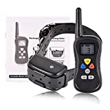450 yd Rechargeable Remote Waterproof Dog Training Collar with Beep, Vibration and Shock, Electronic Dog Shock Collar Dog Trainer System