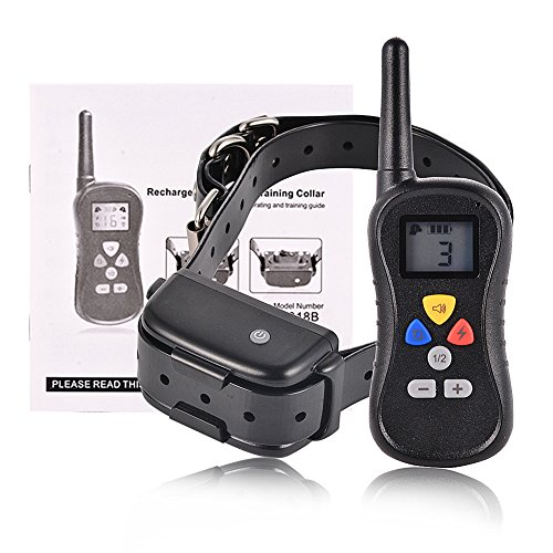 Dog Training Collar with 3 Modes: Beep, Vibration and Shock, Electronic Dog Shock Collar Dog Trainer System, AsyPets 450 yd Rechargeable Remote Waterproof for Small & large dogs - Fence Shock