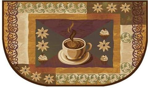 Living Classics Coffee Half Moon Slice Kitchen Rug, #5252 - Slice Kitchen Rug