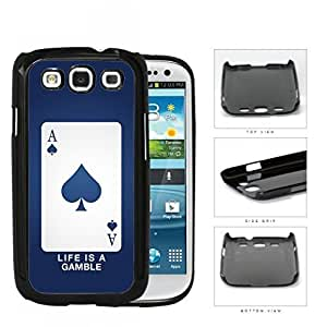 Ace Of Spade Blue Playing Card Hard Plastic Snap On Cell Phone Case Samsung Galaxy S3 SIII I9300