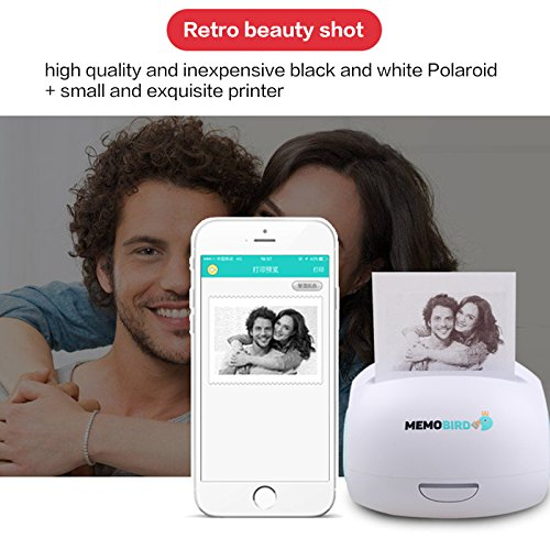 MEMOBIRD G2 151g Printer Wifi Portable Bluetooth Printing Barcode Wireless Pocket Mini Thermal Printer Electronic Computer Office green color Internet-Enabled Paper Messenger and Note Printer