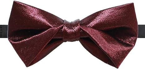 LILILICX Pajaritas Vino Rojo De Seda Corbata De Lazo Vestido De ...