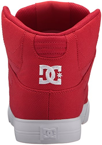 Dc Heren Pure High-top Wc Tx Le Skate Schoen Rood / Wit