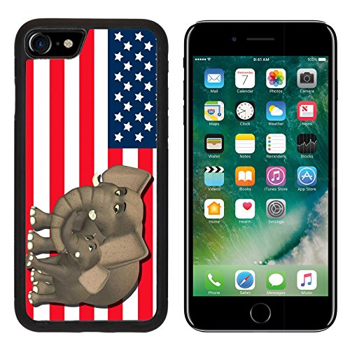State Mascot Baby Mobile (MSD Premium Apple iPhone 7 Aluminum Backplate Bumper Snap Case iPhone7 IMAGE ID: 13768414 Illustration of a mother with a baby in front of the flag of the united states of america)