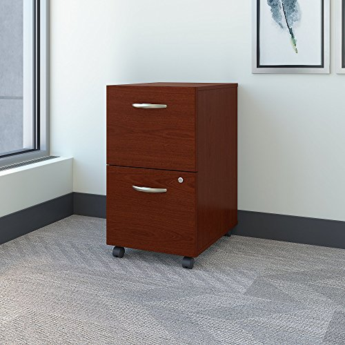 Mahogany Vertical File Cabinet (Series C Collection 2 Drawer Mobile Pedestal)