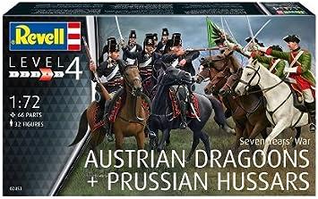 Revell Seven Years War AUSTRIAN DRAGOONS+PRUSSIAN HUSSAR 1:72 Revell 02453