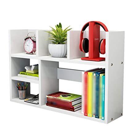 Amazon.com: XIAOYAN Shelves Desktop Book Shelf DIY Wooden ...