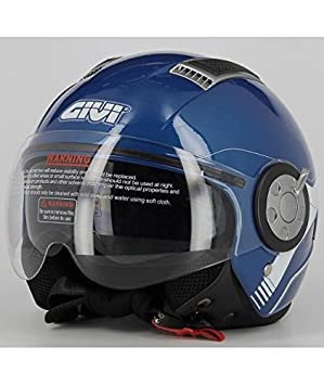 GIVI H111BB50856 Hps 11.1 Air Deni Jet Casco, Color Azul, Talla 56/S