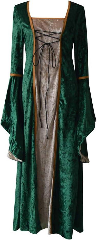 Retro Europa Średniowieczna Sukienka Palast Vintage Gothic Trompete Rękawy Księżniczka Sukienka Wiktoriańska KrÓlowa Kostium Boże Narodzenie Christmas Impreza Carnival Renaissance Średn