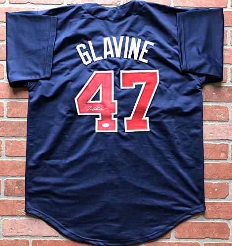 (Tom Glavine autographed signed jersey MLB Atlanta Braves JSA COA CY Young WS MVP)