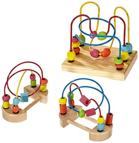 Small Foot by Legler Motorikschleife aus Holz, geeignet für Kinder ab 1 Jahr, drei verschiedene Schleifen, zur Förderung der Feinmotorik