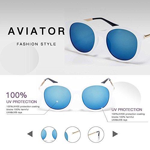 Con AC UV400 Colocción 2018 Nueva Lente Gafas Casuales Smileyes 16 para Sol y Mujer Personalizadas de hombre Clásicas cqYFSWWn