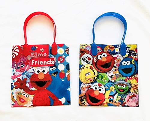 (12 Pieces Disney Pixar Nickelodeon Birthday Goody Gift Loot Favor Bags Party Supplies (Elmo Love His Friends))