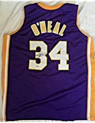 bb227d5fddc ... JSA Witness COA Shaquille Shaq Oneal Signed Lakers Jersey Auto Bas  Beckett Coa Lakers!