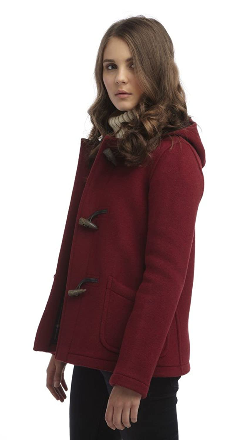 Womens Short Duffle Coat (Burgundy) at Amazon Women's Coats Shop