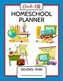 Check-Off Homeschool Lesson Planner 200 Days: Lesson Plans, Worksheets, Curriculum, Attendance Logs & Check Lists