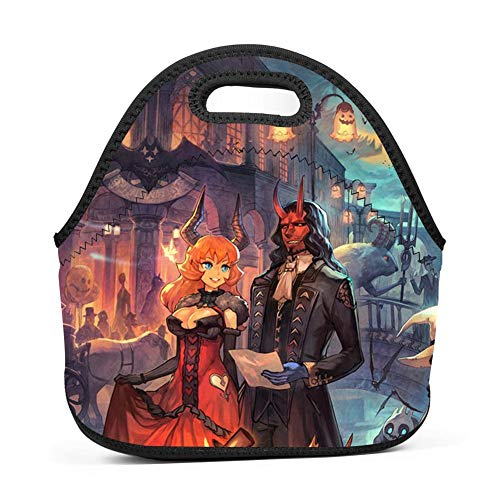 Brniogn Waterproof Lunch Box Carry Case Halloween Horror Monster Party Lunch Bag for Adult Women and Men - Idea for Beach,Picnics,Road Trip,Meal Prep,Everyday Lunch to Work or School