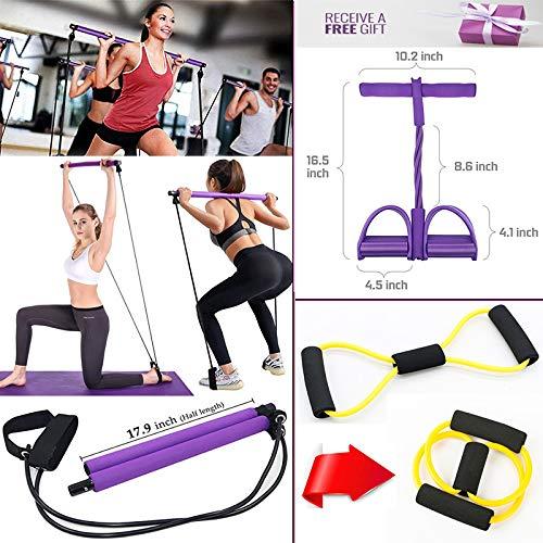 moshina Pilates Bar Kit with Resistance Band-
