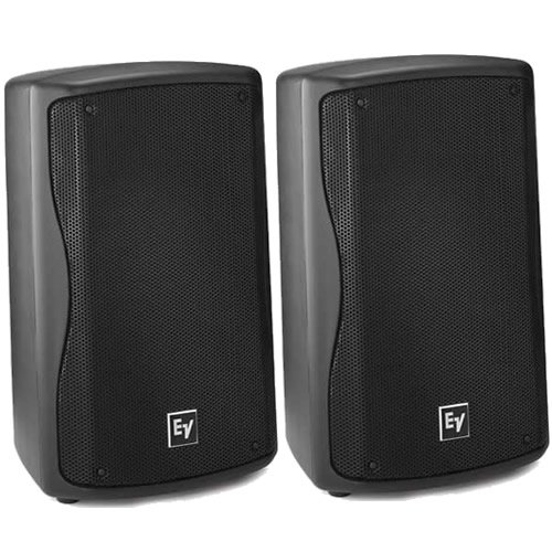 EV Electro Voice ZX1-90 Black Compact 8'' DJ PA Monitor Speakers PAIR (2) ZX1 NEW by Electro-Voice