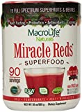 Miracle Reds Superfood - Super Red Powder - Non Allergenic Proprietary Fruit Blend - Anti Aging Anti Oxidants - Polyphenols & Heart Friendly Plant Sterols - Delicious & Nutritous - Non GMO - Vegan - Gluten & Dairy Free - Berry Taste - 90 Servings - 30 oz (850 g)